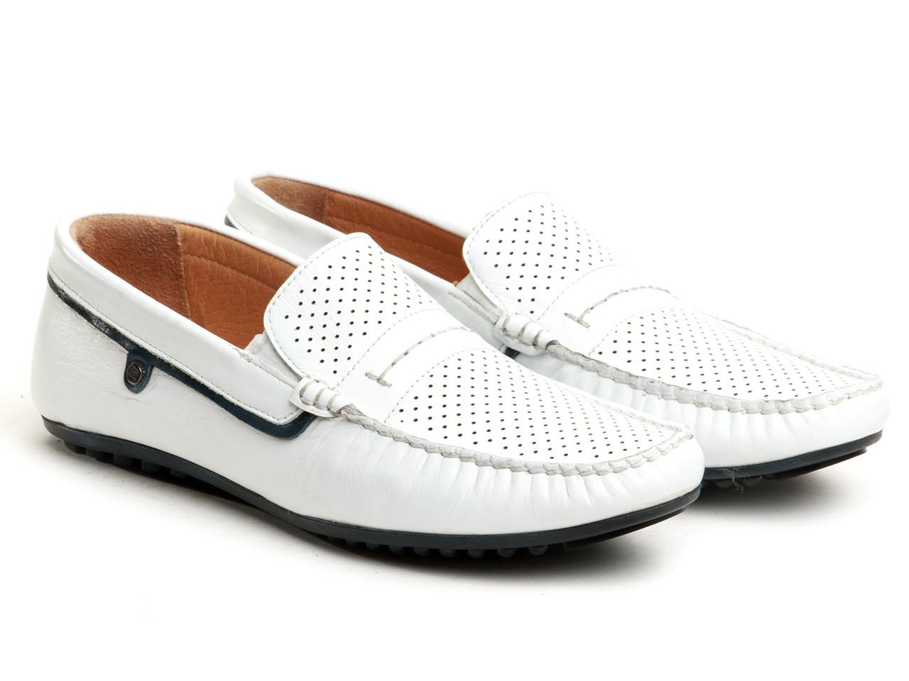 Мокасины Etor 11423-7080 белые