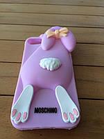 Силиконовый чехол MOSCHINO Rabbit  для iPhone 5/5s/SE violet