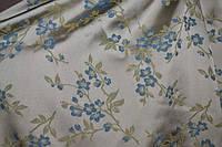 Ткань Жаккард Цветочки D&G