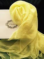Шарф желтый шелковый