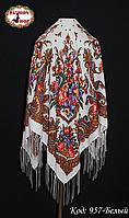 Женский павлопосадский  платок Изумрудный восторг