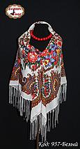 Женский павлопосадский платок Изумрудный восторг, фото 3