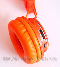 Наушники ATLANFA AT-7611 гарнитура с MP3 FM Bluetooth, оранжевые, фото 2