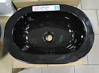 Умывальник овальный керамический накладной Hybner Benque 50
