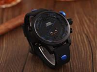 Спортивные водозащитные часы Ohsen AD2820; 5АТМ, кварцевые на батарейке CR2032. Цвет: синий, красный