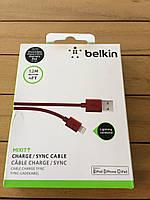 Кабель синхронизации Belkin Mixit Lightning Red