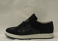 Кеды женские модные замшевые черные