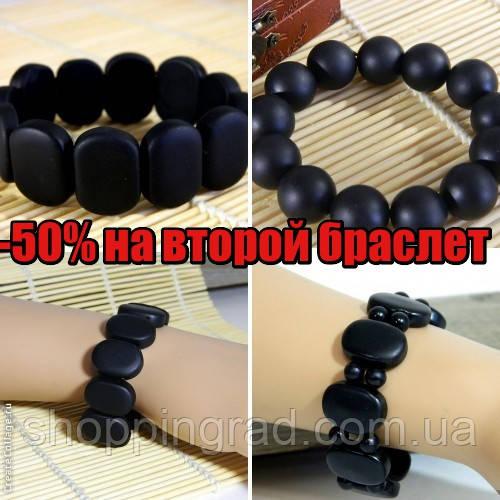 Оригинальный браслет из черного камня Бяньши - интернет-магазин «ShoppinGrad» в Киеве
