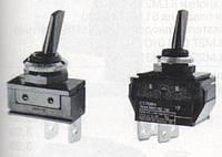 Тумблер AE-C1710HOAAA 1 полюс, 2 положения стабильные, перекидной, вкл-вкл Италия
