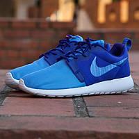 Мужские кроссовки Nike Roshe Run Hyperfuse Blue