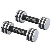 Гантели для фитнеса хром. KETTLER (2 x 5кг) KTLR7446-550 (2шт, хормированное покрытие)