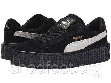 Женские кроссовки Puma by Rihanna Black White   продажа 5d8c4c15c6097