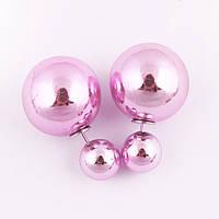 Серьги-гвоздики (пусеты) Dior Stile (розовые)