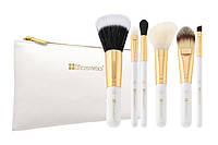 Набор кистей в косметичке Bright White - 6 Piece Brush Set with Cosmetic Bag BH Cosmetics Оригинал