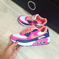 Женские кроссовки Nike Air Max розовые