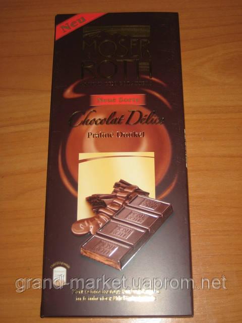 """Шоколад """"Moser Roth"""" Praline dunkle – Черный шоколад, 187,5г (Германия)"""