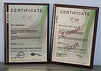 Сертификаты на метале, фото 1