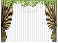 """Ажурный зеленый ламбрекен """"Ампир 2"""" на 3,5 м , фото 1"""