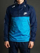 Мужской спортивный анорак Nike , сине-голубой, фото 2