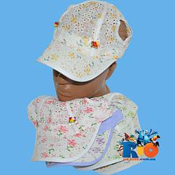 Детская летняя кепка арт.5969 , для  девочки (р-р 54-56)