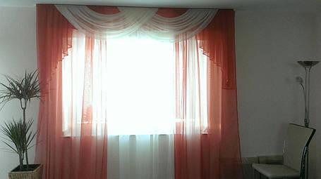 """Комплект штор """"Тропик""""+лабрикен+тюль (Терракотовый), фото 2"""
