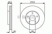 Тормозной диск передний NISSAN 0986479R90