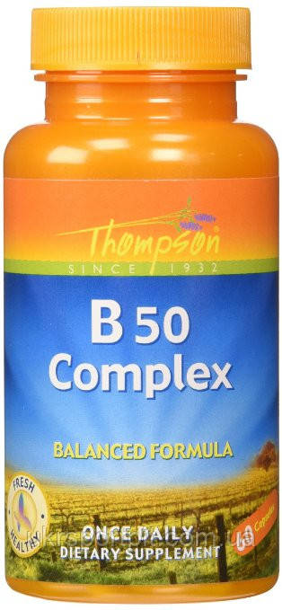 Thompson Vitamin B 50 Complex Комплекс Витаминов Б 60 капсул