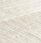 Пряжа Alize MISS молочный №62 хлопковая для ручного вязания, летняя