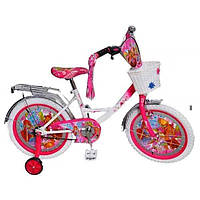 Детский велосипед Profi Trike 12 дюймов с аппликациями Винкс