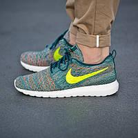 Мужские кроссовки Nike Roshe Run Flyknit Mineral Teal, фото 1