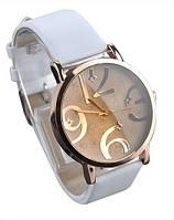 НОВИНКА! Стильные женские часы. Белый браслет (Код 032)