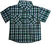 Детская рубашка на мальчика. 92-116 р.р. Зеленая. Оптом.