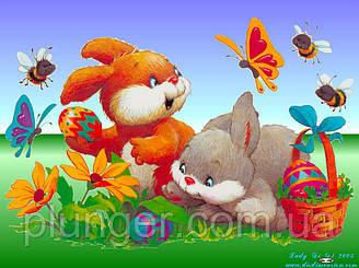 """Вафельна картинка для торта """"Великдень"""", (лист А4)"""