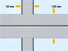 Стандартный профиль остекления ворот Hormann