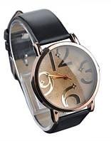 Стильные женские часы. Черный браслет (Код 032), фото 1