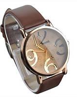 Стильные женские часы. Коричневый браслет (Код 032), фото 1
