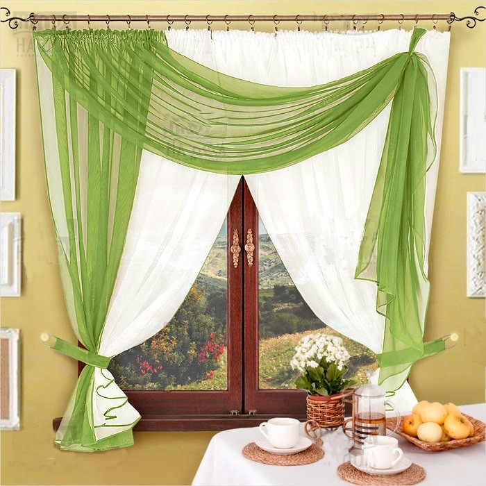 Комплект штор Милена (Травяной), кухонные