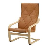 """IKEA """"ПОЭНГ"""" Кресло, березовый шпон, Сеглора естественный"""