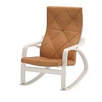 """IKEA """"ПОЭНГ"""" Кресло-качалка, белый, Сеглора естественный"""