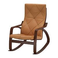 """IKEA """"ПОЭНГ"""" Кресло-качалка, коричневый, Сеглора естественный"""