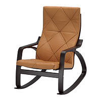 """IKEA """"ПОЭНГ"""" Кресло-качалка, черно-коричневый, Сеглора естественный"""