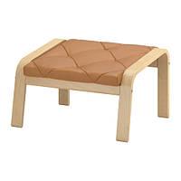 """IKEA """"ПОЭНГ"""" Табурет для ног, березовый шпон, Сеглора естественный"""