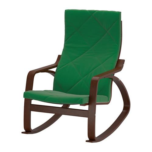 Ikea поэнг кресло качалка коричневый сандбакка зеленый продажа