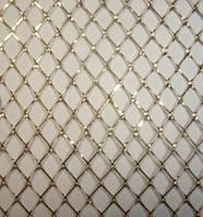 Сетка декоративная золотая 1м