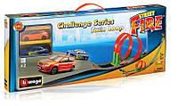 Игровой набор Трек Скоростная петля (2 дорожки + 2 машинки) Bburago