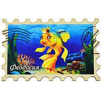 """Магнит """"Марка"""" золотая рыбка  Феодосия"""