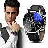 Стильные мужские часы Geneva. Черный ремешок (Код 071)