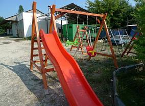 Детская качеля Дружба + горка спуск 3 м., фото 3
