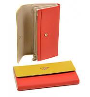 Женский кожаный кошелек на кнопке Bretton