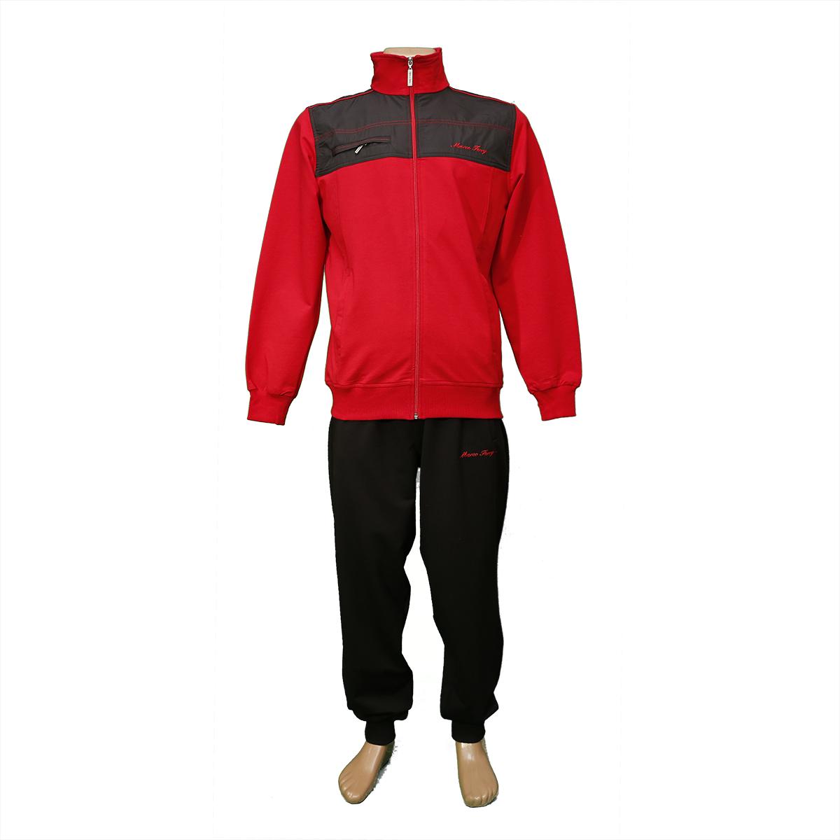 Трикотажний чоловічий спортивний костюм зі складу в Одесі FM14669 Red